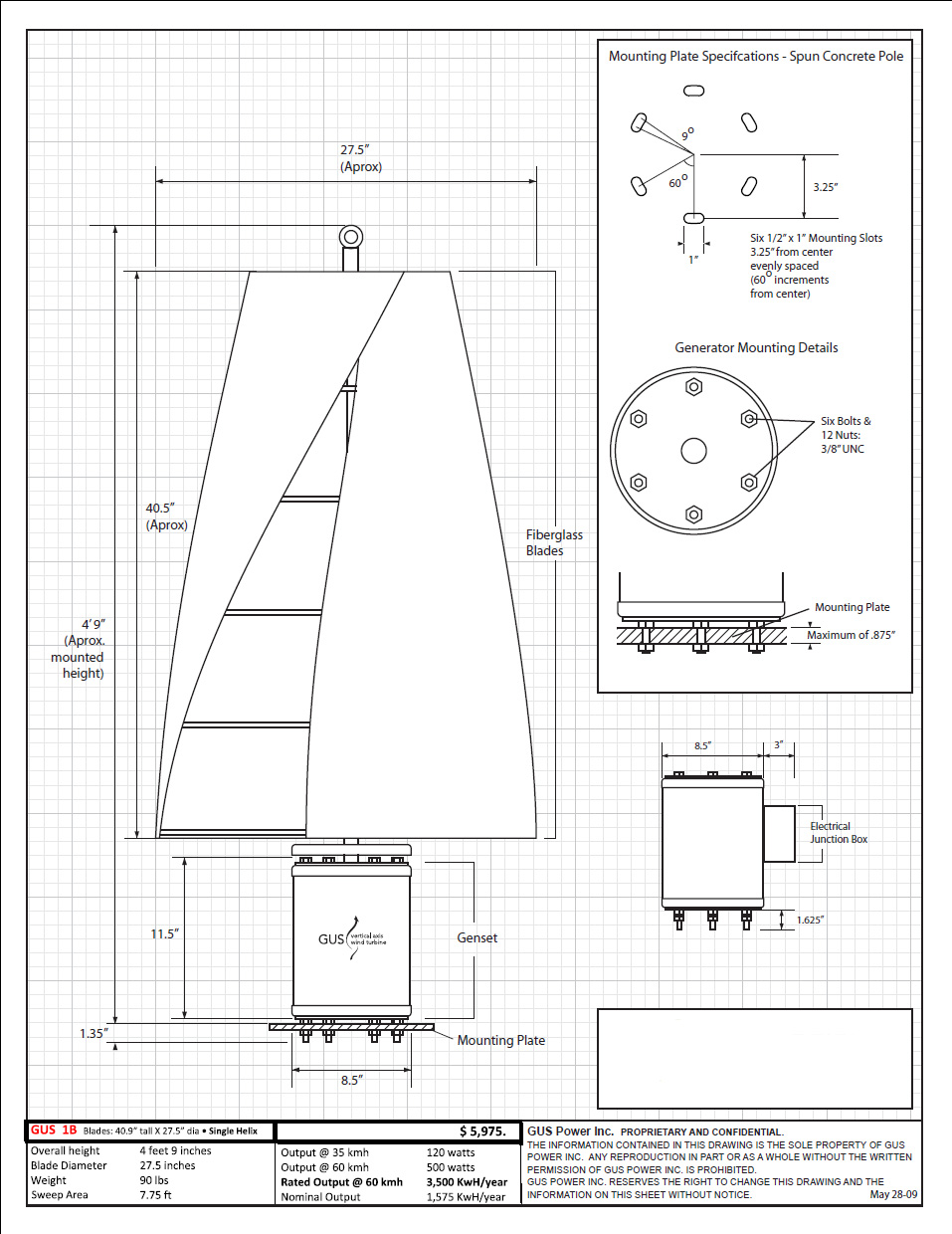 Wind Generator Ac Wiring Diagrams Gus 1b Single Helix