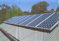 Photovoltaics at work in Little Hartley - NSW