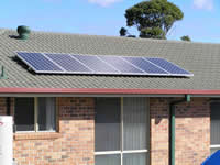 Photovoltaics at work in Gulmarrad - NSW