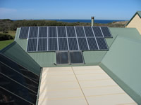 Photovoltaics at work in Pt Lonsdale - VIC