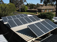 Photovoltaics at work in Melton West - VIC