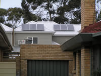 Photovoltaics at work in Newport - VIC