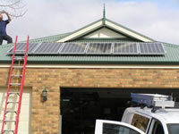 Photovoltaics at work in Lysterfield - VIC
