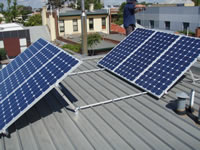 Photovoltaics at work in Calton - VIC