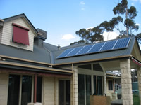Photovoltaics at work in Warrandyte - VIC