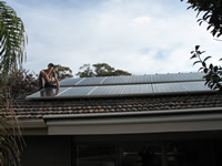 Photovoltaics at work in Glen Waverley  - VIC