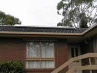 Photovoltaics at work in Vermont South  - VIC